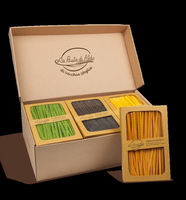 Packs of artisan pasta